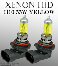 PCC H10 55W x2 pcs Fog Light Direct Fit Xenon HID Super Yellow Light Bulbs VA291