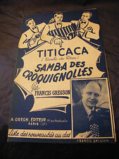 Partition Titicaca Samba des croquignolles Francis Gregson  Music Sheet