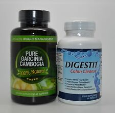 Pure Garcinia Cambogia Fat Burner Weight Loss & Digestit Colon Cleanse & Detox