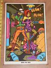 VINTAGE 1972 BILLY THE KID BLACKLIGHT POSTER    HEAD SHOP