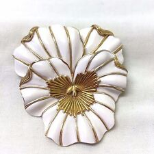 Vintage  1960's Crown Trifari  Enamel Flower Brooch Pin