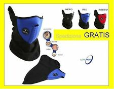 FACE MASK MASCHERINA FACCIA COLLO BANDANA NEOPRENE PILE