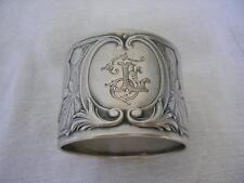 MARRONNIER ART NOUVEAU Silver napkin ring Rond de serviette ARGENT MASSIF Top