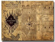THE MARAUDERS MAP METAL SIGN POSTER, HARRY POTTER, HOGWARTS SCHOOL, MAGIC,WANDS