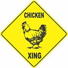 "15.5"" x 15.5"" plastic funny Chicken sign xing Crossings animal"