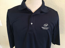Intel Logo Men's Short Sleeve Polo Shirt XXL Not Sold In Stores Employee Blue