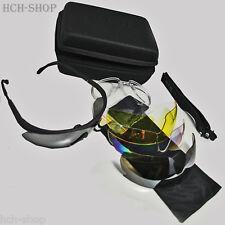 MFH Sportbrille Biker Schießbrille Storm mit viel Zubehör inkl.schwarzer Box