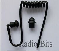 BLACK Acoustic Tube Replacement + 2 Earbuds Universal Sepura Kenwood MTH