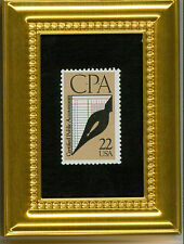 CPA AICPA GLASS FRAMED COLLECTIBLE POSTAGE MASTERPIECE GIFT FOR ACCOUNTANT