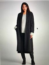 NWT $448 EILEEN FISHER CALF LENGTH KIMONO THE ICONS COAT CHARCOAL 2X