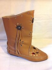 Sacha London Brown Ankle Leather Boots Size 3.5