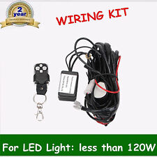 Remote Control Wiring Harness Kit Switch Relay Led Light Bar 18/24/48/120W 12V