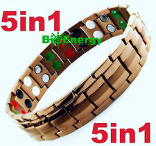 Anion Magnetic Energy Germanium Power Bracelet Health 5in1 Bio Armband TITANIUM