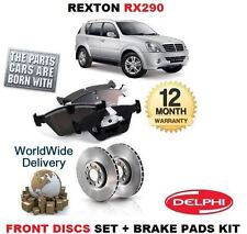 FOR SSANGYONG REXTON RX290 2.9DT 2002-  NEW FRONT BRAKE DISCS SET + DISC PAD KIT