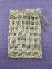 "12 Burlap Bags with Natural Jute Drawstring - 3"" x 5"" - Sack Favor Bag - 3x5"