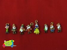 Disney Snow White Charm Lot 24K Gold Plated/Enamel