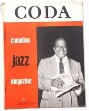 Vintage August 1963 CODA Vol. 6 No. 1 The Canadian Jazz MAGAZINE