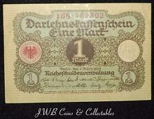 1920 Germany 1 One Mark Banknote.