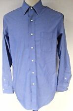 Brooks Brothers Men's Shirt Blue Button Front Size 15 1/2-4/5 Slim Fit Non Iron