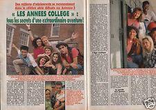 Coupure de presse Clipping 1990 Les Années Collège feuilleton   (3 pages)