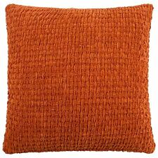 "TERRACOTTA ORANGE THICK BASKET WOVEN WEAVE 17""- 43CM CUSHION COVER"