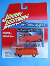 JOHNNY LIGHTNING VOLKSWAGEN SERIES 1965 TYPE 2 PICKUP ORANGE 1: 64 SCALE