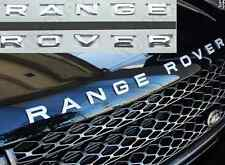 Polished ABS Chrome Front Hood Rear Letters Emblem Badge Sticker for Range Rover