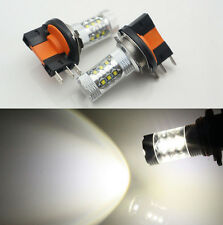 2PCS Xenon White 80W H15 CREE LED Bulbs Daytime Lights For Audi BMW Mercedes VW
