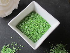 60g EDIBLE GREEN GLITTER STANDING SUGAR CRYSTALS SPRINKLES, CAKE DECORATIONS