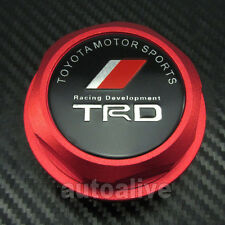 New Red TRD logo Billet Aluminum Engine Oil Filler Cap  fit Toyota Lexus Scion