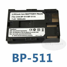 Battery for Canon BP-511 EOS 10D 20D 30D 40D 5D 300D D300 D60 ZR-90 ZR-85 ZR-80