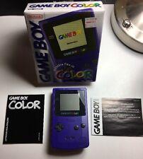 Nintendo Game Boy Color Grape Purple System CCB-001 Complete in Box CIB