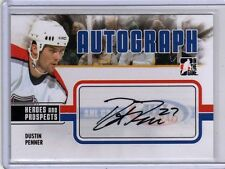 DUSTIN PENNER 09/10 ITG Prospects Update Auto AHL Grad Signed Hockey Card