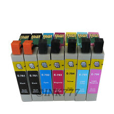 7 Pack Refilled 78 T0781-T0786 ink FOR EPSON R260 R280 R380 RX580 RX595