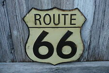 Historic ROUTE 66 Vintage Style Weathered Garage Shop Rustic METAL ROAD SIGN
