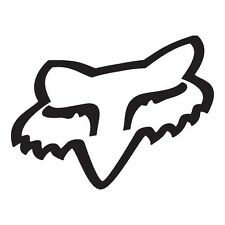 "GENUINE FOX HEAD FOX RACING STICKER WHITE 7"" WINDSCREEN CAR VINYL MX MOTOCROSS"
