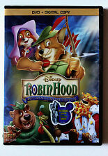 Disney Animated Classic Robin Hood DVD and Digital Copy English Spanish French
