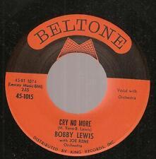 Bobby Lewis~What A Walk/ Cry No More~'61 Soul R&B Joe/Malou Rene,Richie Adams~NM
