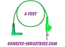 TEST LEADS FOR 3M DYNATEL LOOP ANALYZER 965DSP GREEN GROUND 965DSP-01-GN-6 NEW