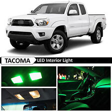 9x Green Interior LED Light Package Kit for 2005-2015 Toyota Tacoma + TOOL