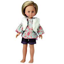"Corolle 13"" LES CHERIES FASHION SET for Dolls Fur Vest Denim NEW Box France"