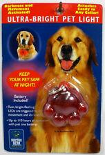 LED Flashing Pawprint ID Tag Light Dog Cat Puppy Blinking Safety Collar NEW