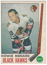 1969-70 OPC HOCKEY #73 HOWIE MENARD ROOKIE - VG+/EX-