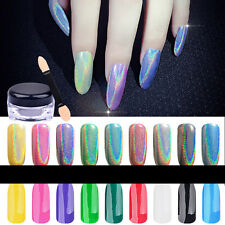 1g Holographic Powder Nail Glitter Rainbow Pigment Manicure Chrome Pigment Set