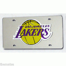 LOS ANGELES LAKERS TEAM LOGO NBA BASKETBALL LASER LICENSE PLATE MADE IN USA