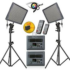 Pro 2x Aputure HR672W CRI 95+ LED Video Studio Light + Battery +Control + Stand