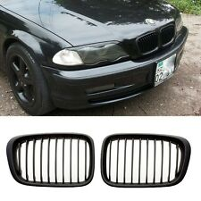 E46 1998-2001 MATTE BLACK GRILL GRILLES For BMW 4 DOOR 320i 323i 325i 328i 330i