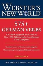 Webster's New World 575+ German Verbs by Edward Swick (2006, Paperback)