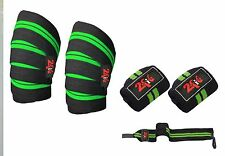 2Fit Knee + Wrist Wraps Weight Lifting Body Building Gym Training Support Straps