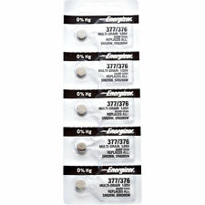 10 x Energizer 377 Watch Batteries, 0% MERCURY equivilate SR626SW